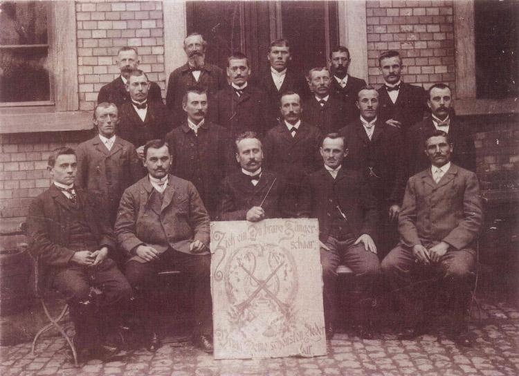 Gruppenbild Chor 1909